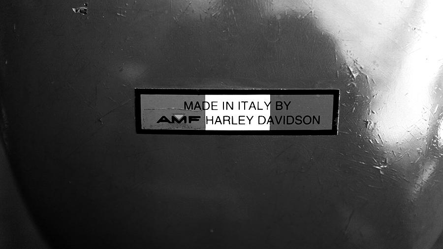 Photo of a vintage Harley-Davidson Sprint sticker