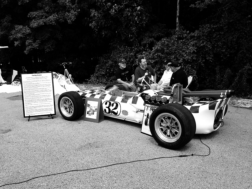 Photo of a classic Indy race car