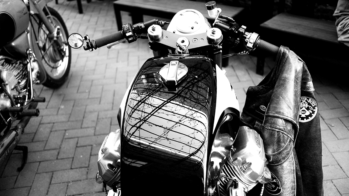 Photo of a custom Triumph motorcycle