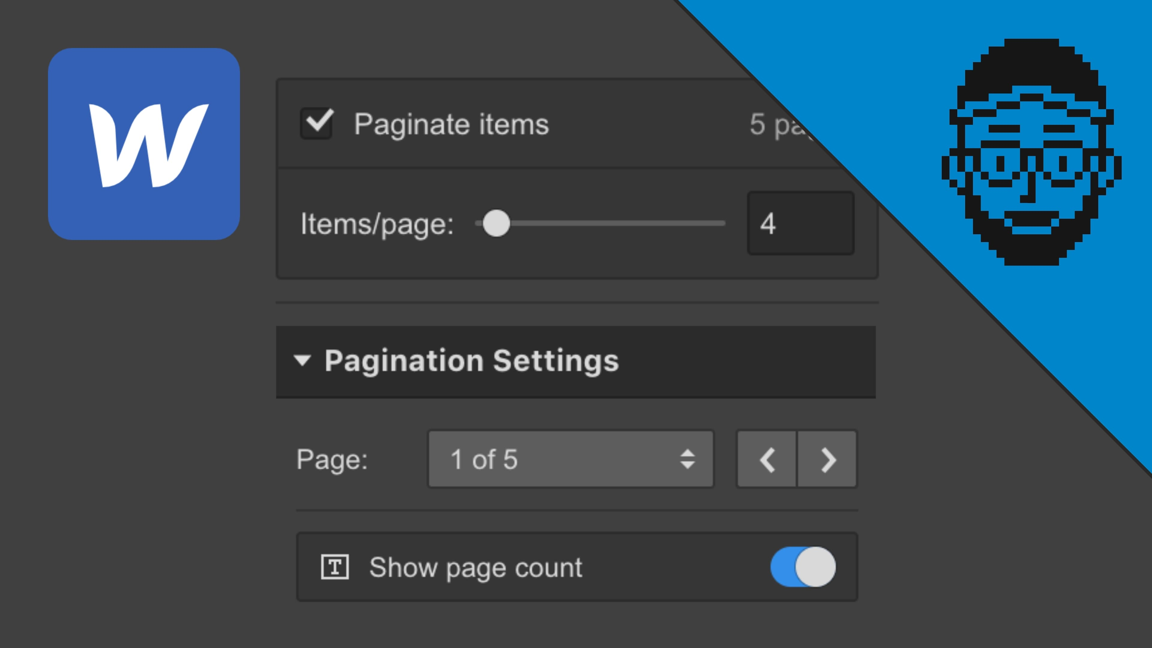 Feature - Pagination for collection lists in Webflow