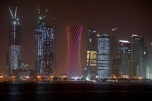 Tornado Tower Beleuchtung Doha