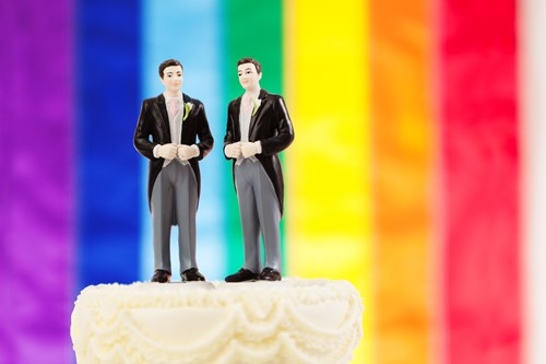 Same-sex marriage cake