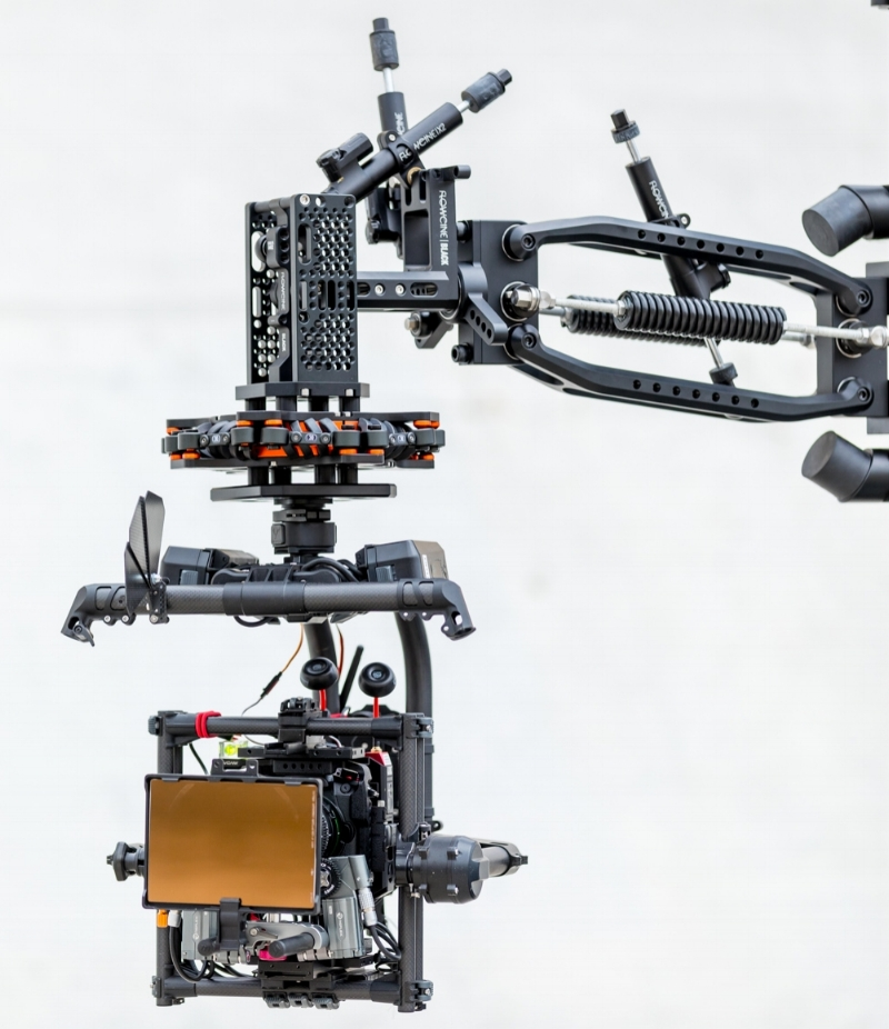 Flowcine's Black Arm 3-axis dampening system