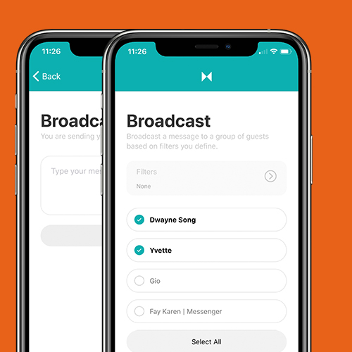 sample of broadcast messaging on mobile