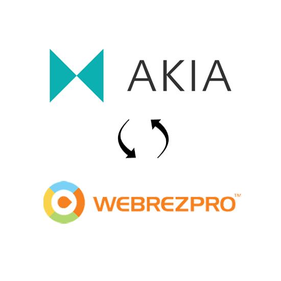 Akia and WebRezPro real-time sync