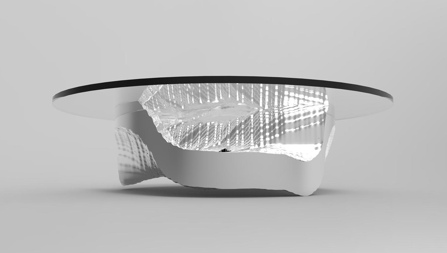 Table concept based on the oceans by Evan Moore