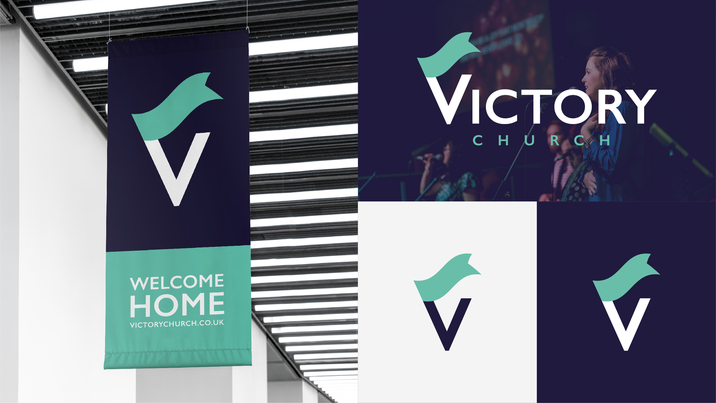 Victory Church logo application - banner / screen / icons