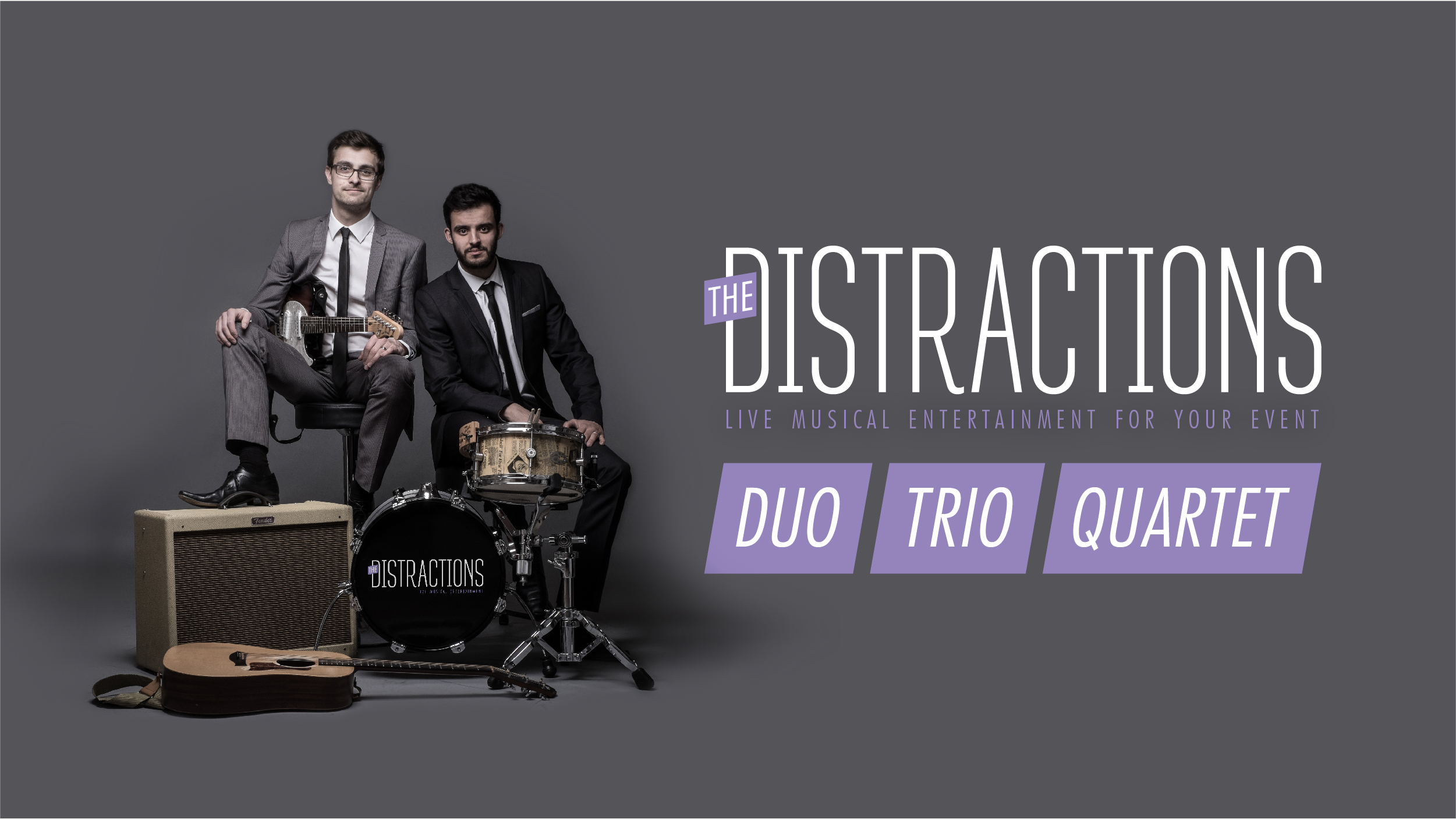 The Distractions Duo Trio Quartet  banner graphic