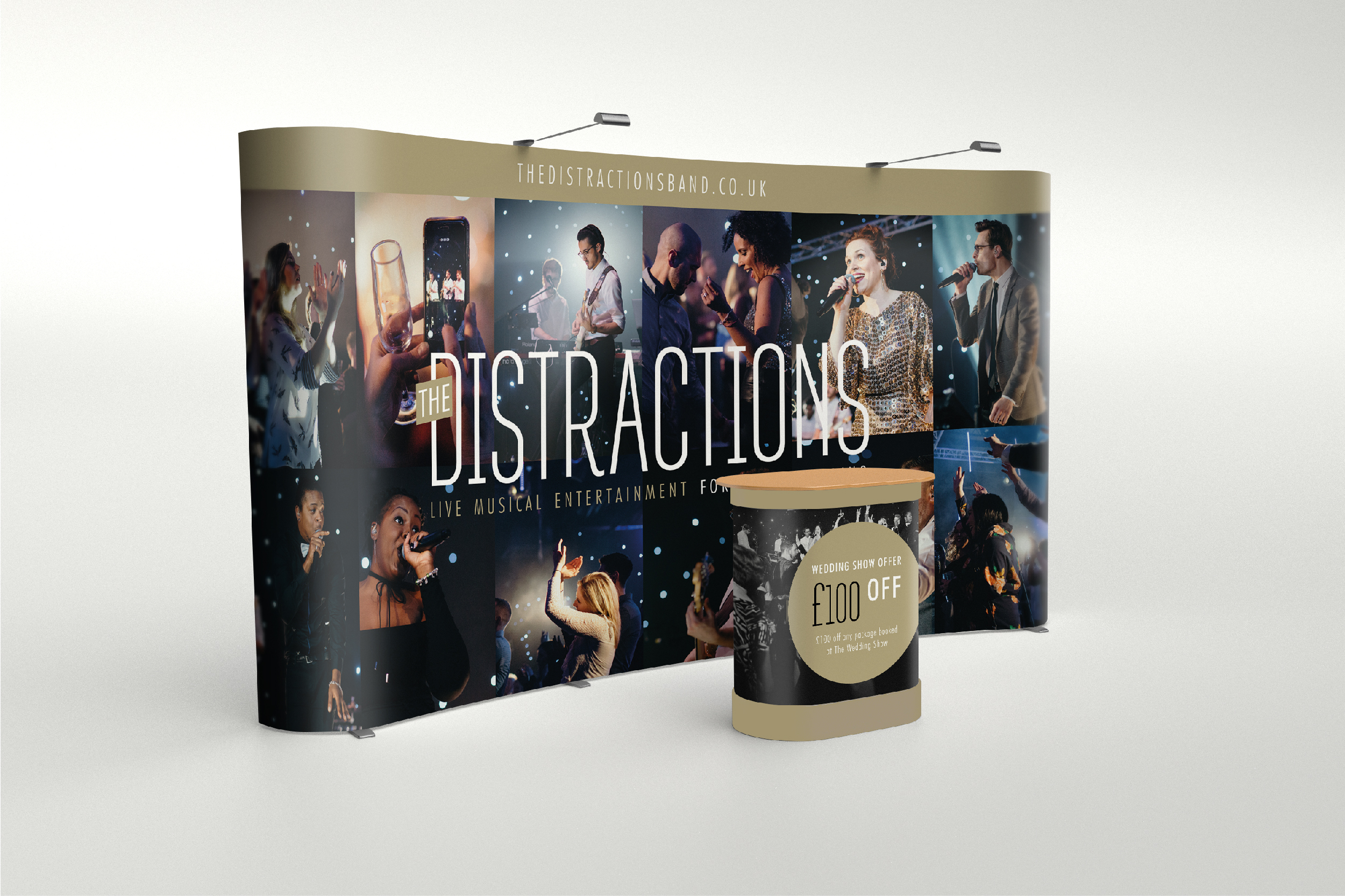 The Distractions Band exhibition stand design