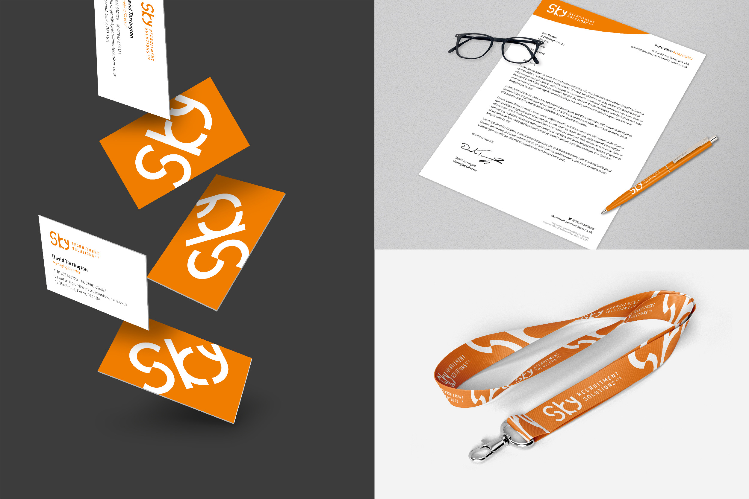 Sky Recruitment Solutions Stationery Design
