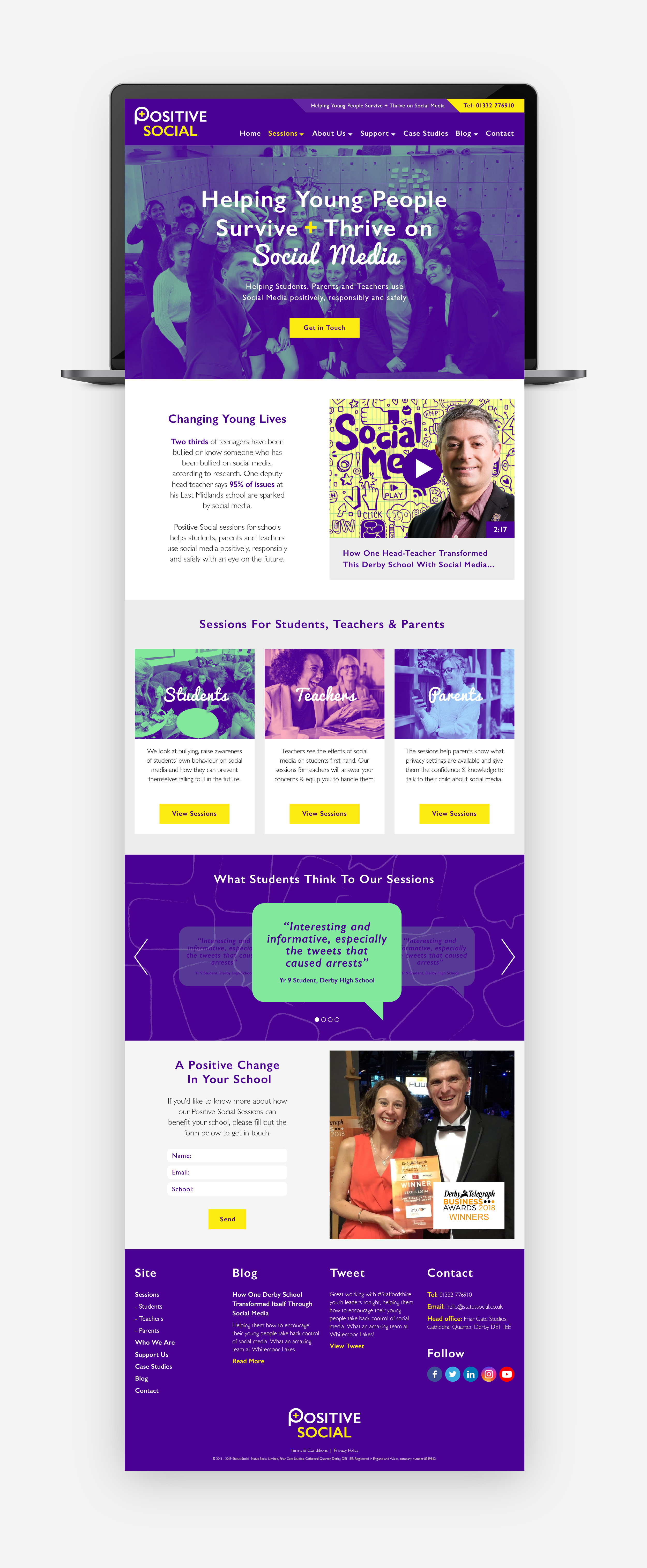 Positive Social Website Desktop