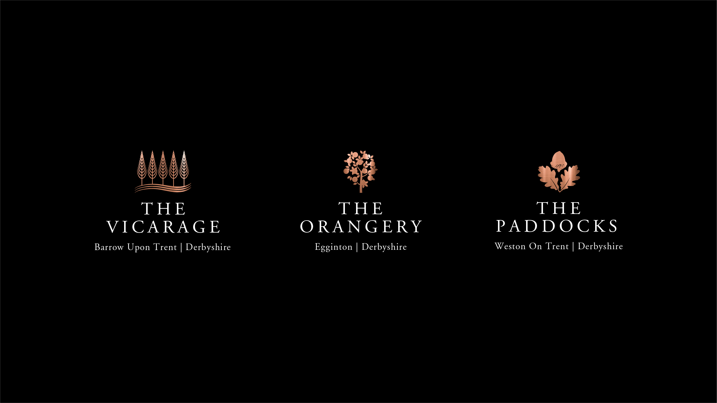 The Vicarage The Orangery The Paddocks logos