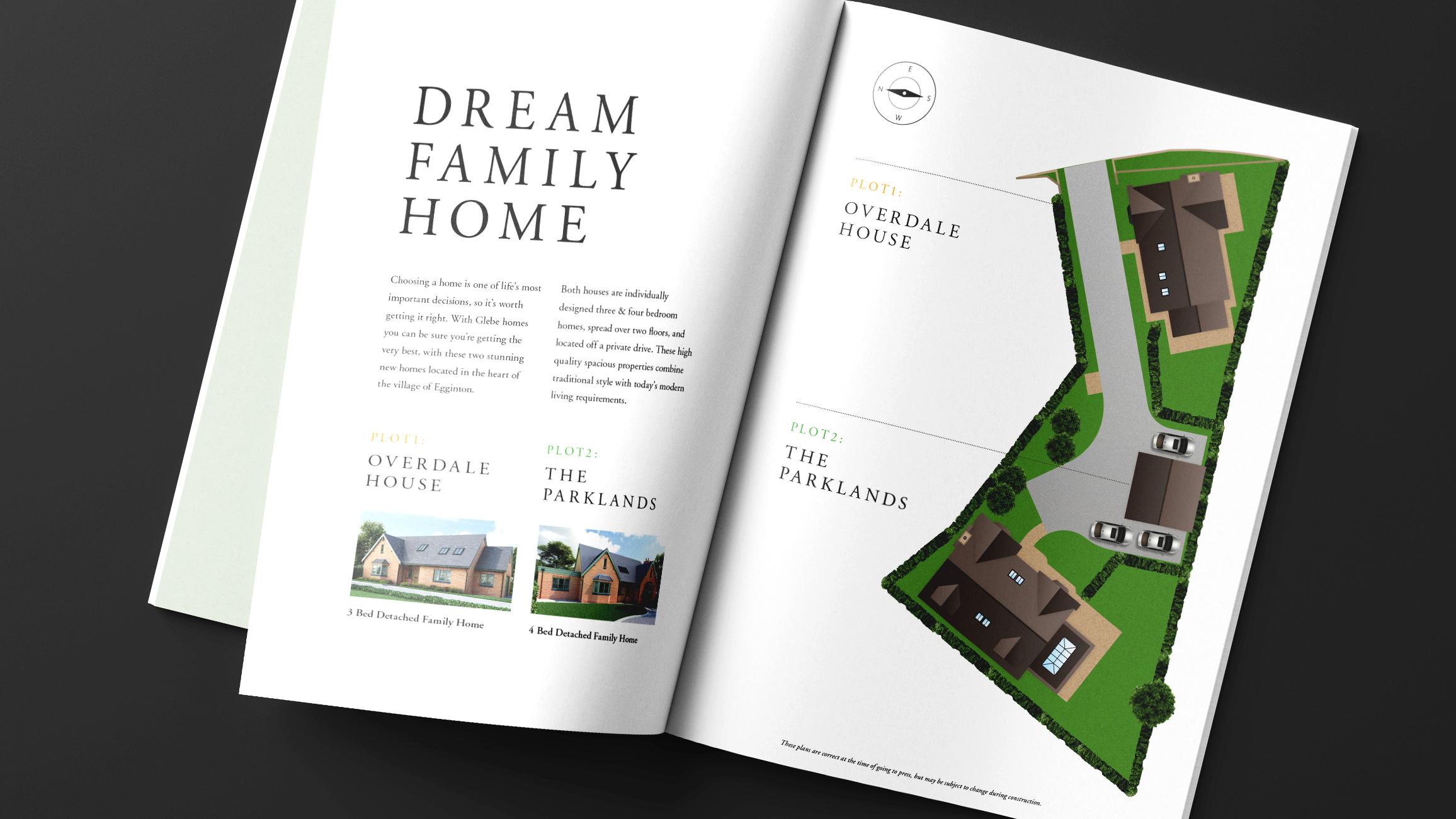 Glebe Brochure Spread - Dream Family Home