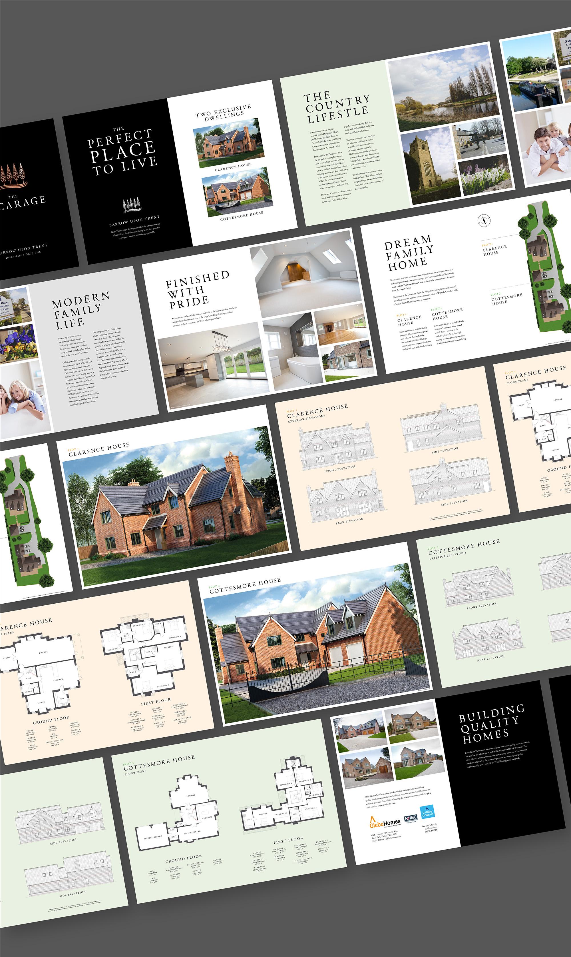 Glebe Homes Brochure Spreads