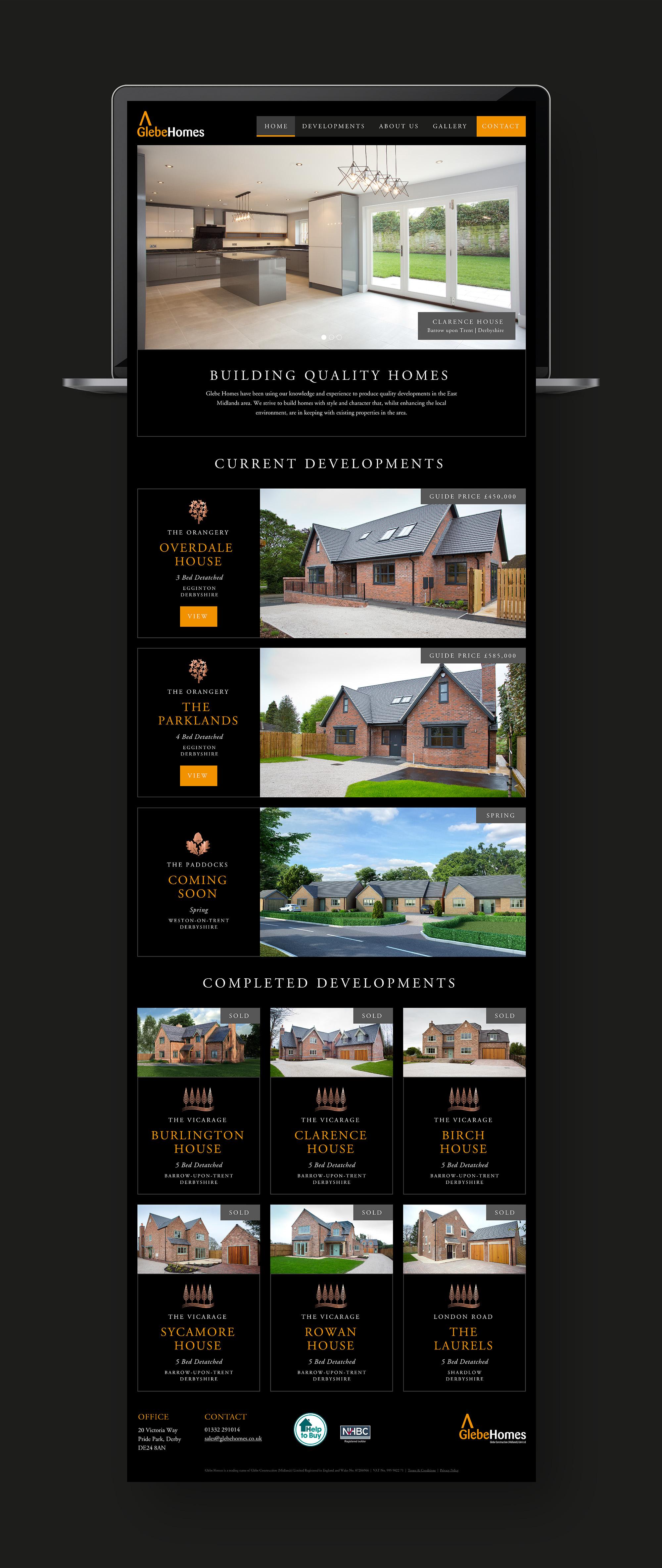 Glebe Website Homepage