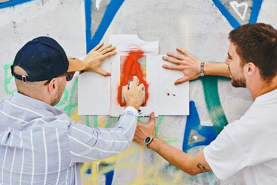 création de pochoir street art