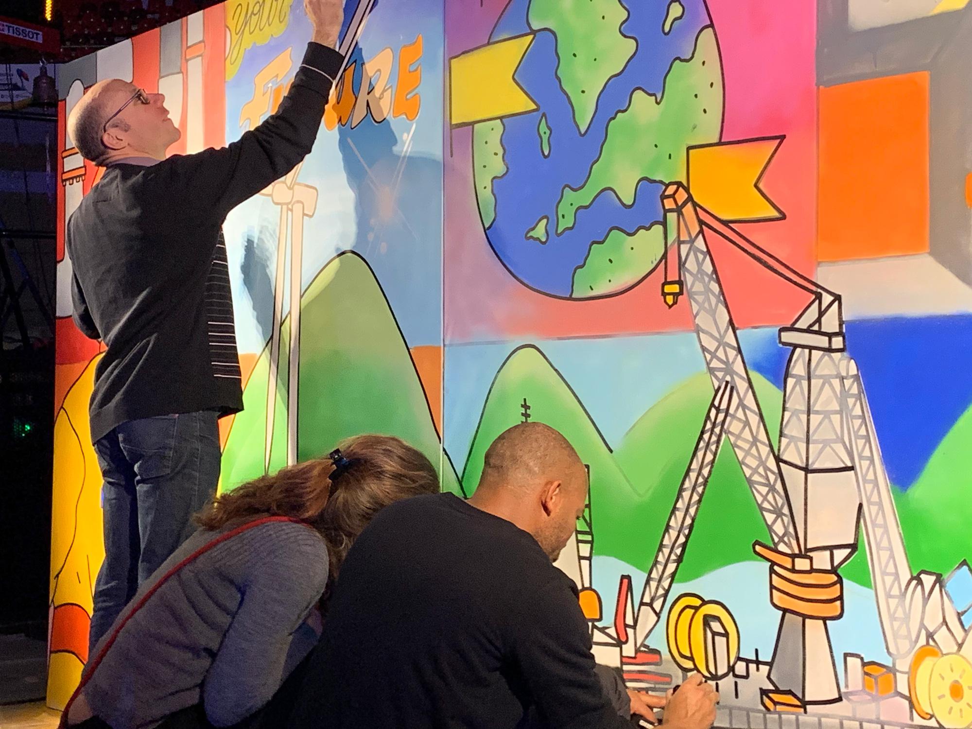 oeuvre participative graffiti