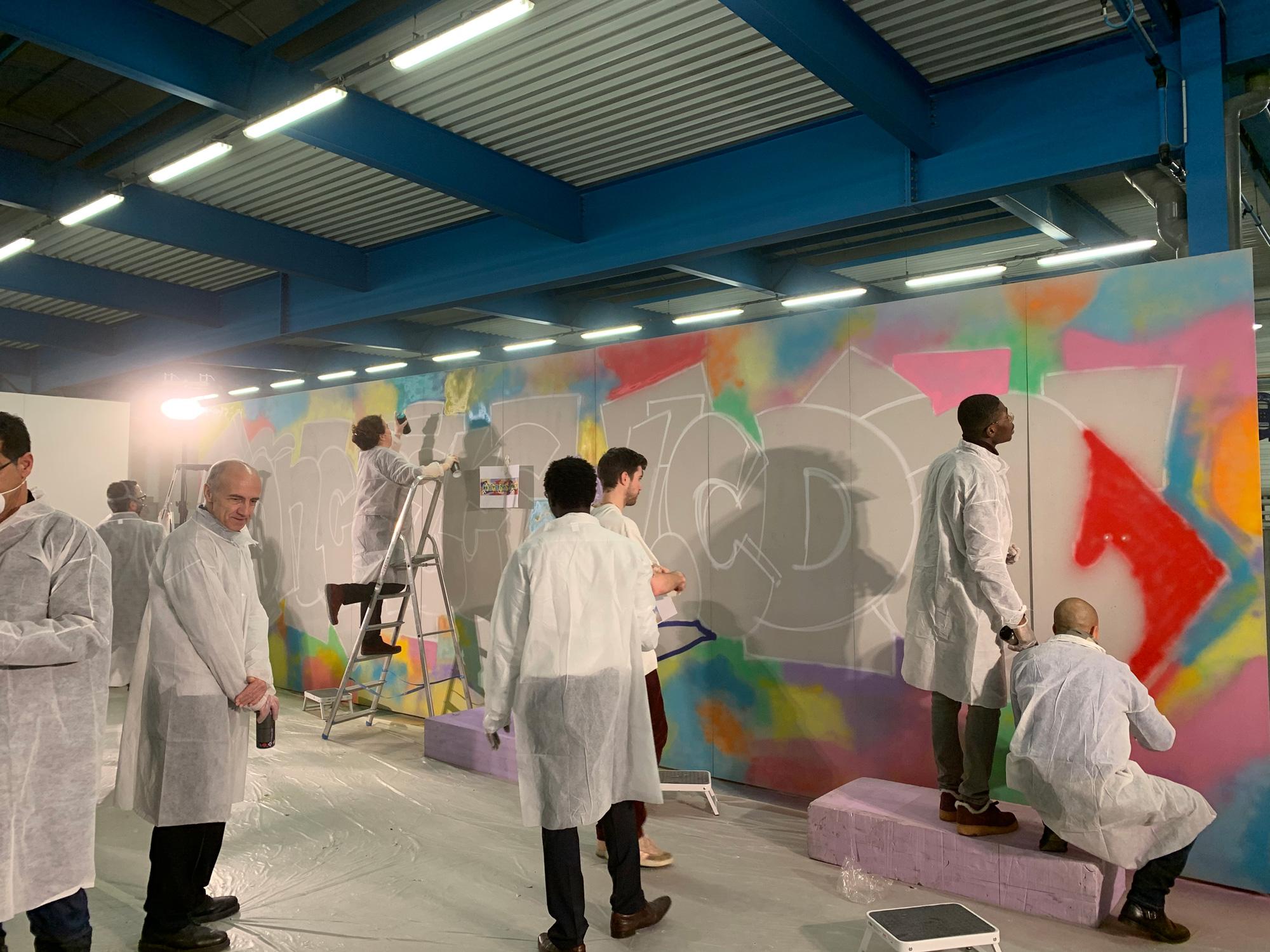 fresque graffiti participative