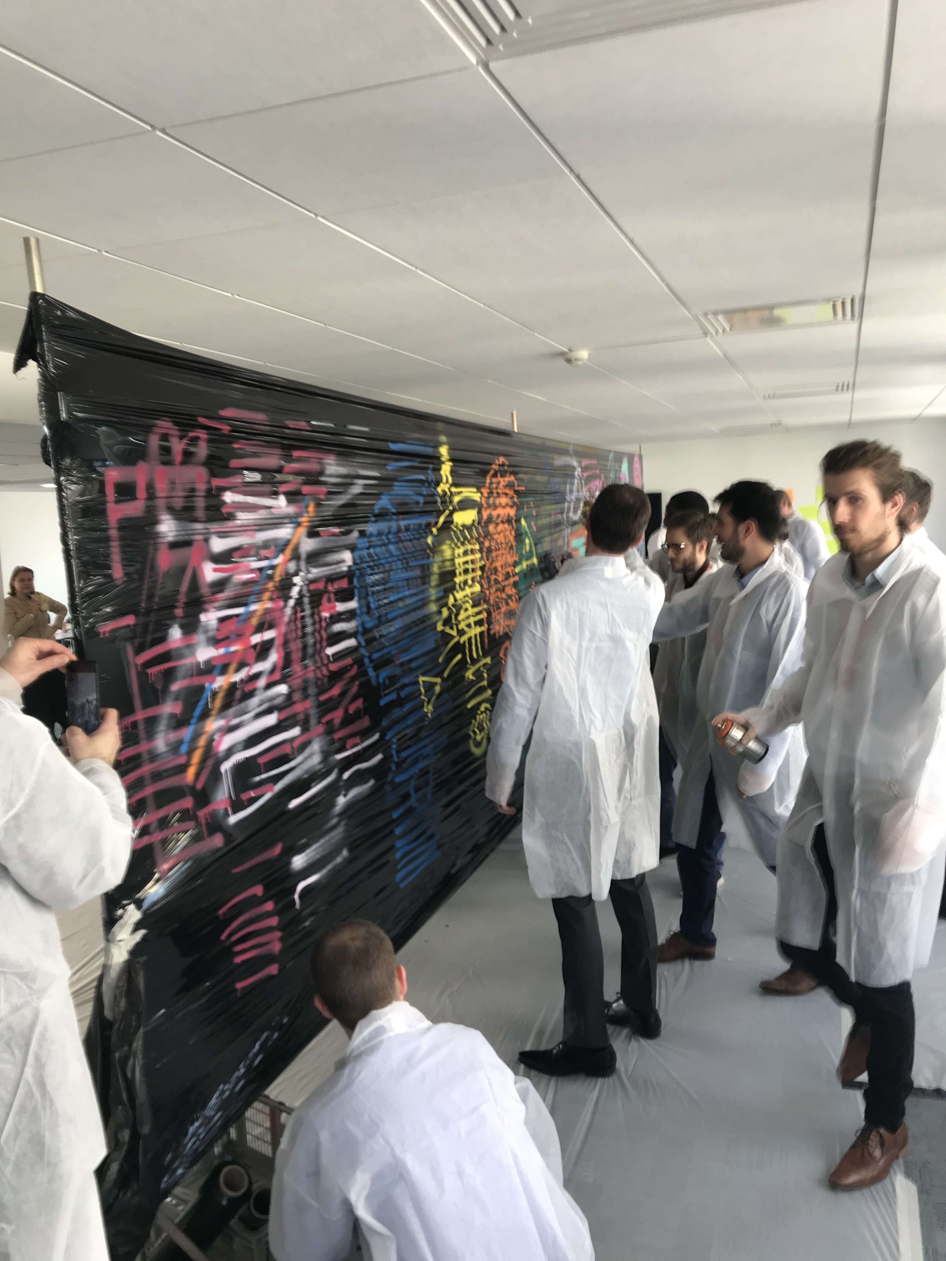 animer un teambuilding graffiti