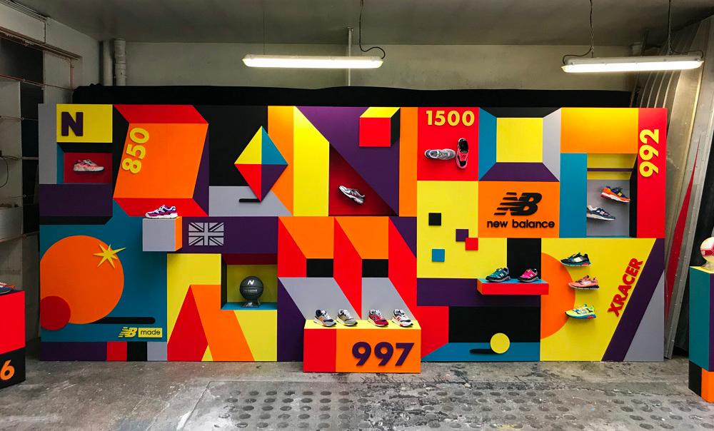 design mural street art New Balance à paris