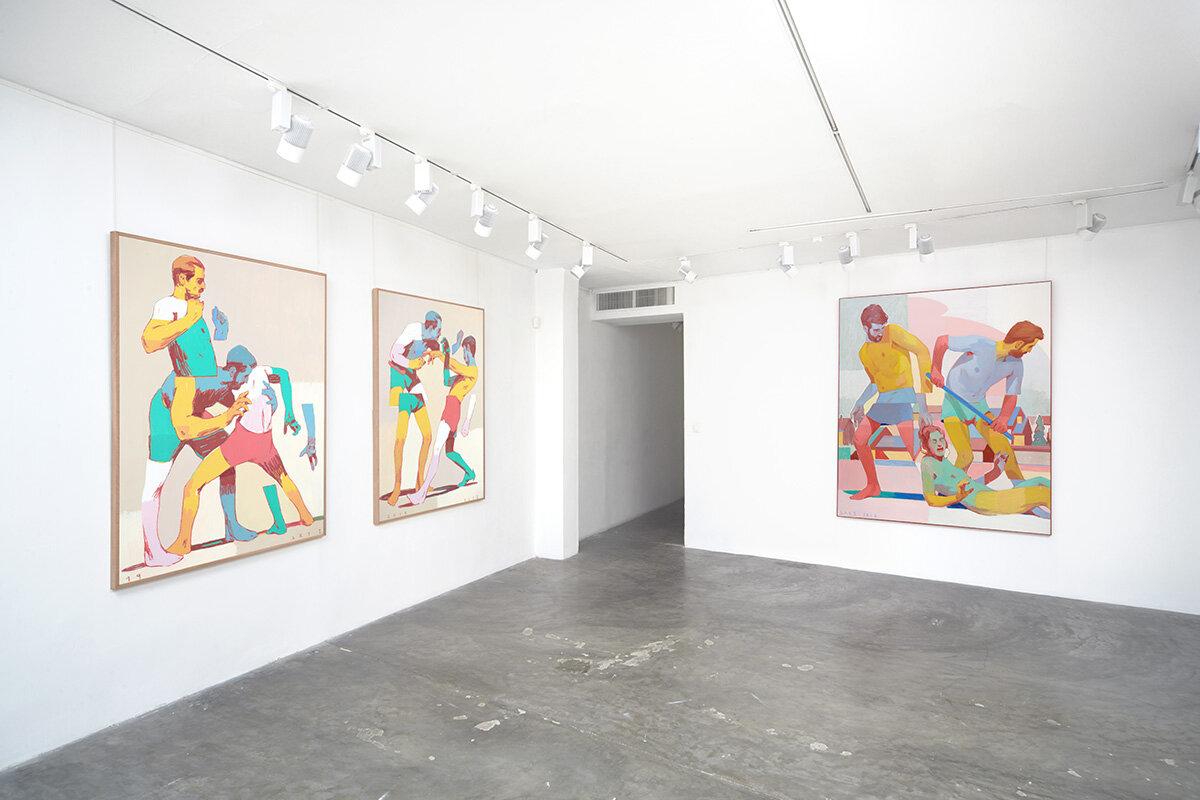 Exposition sur toile de l'artiste ARIZ a Paris