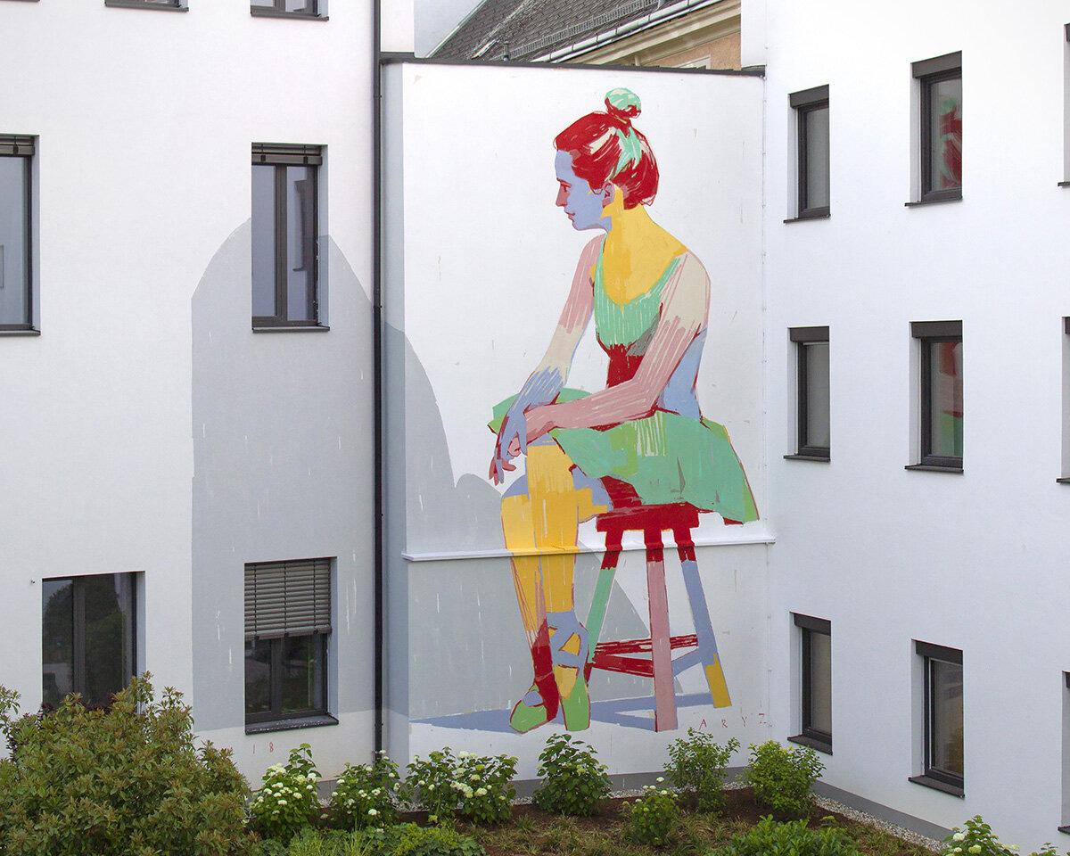 Muralisme street art par ARIZ