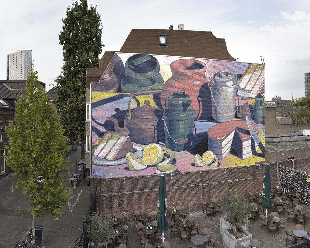 Fresque géante sur mur