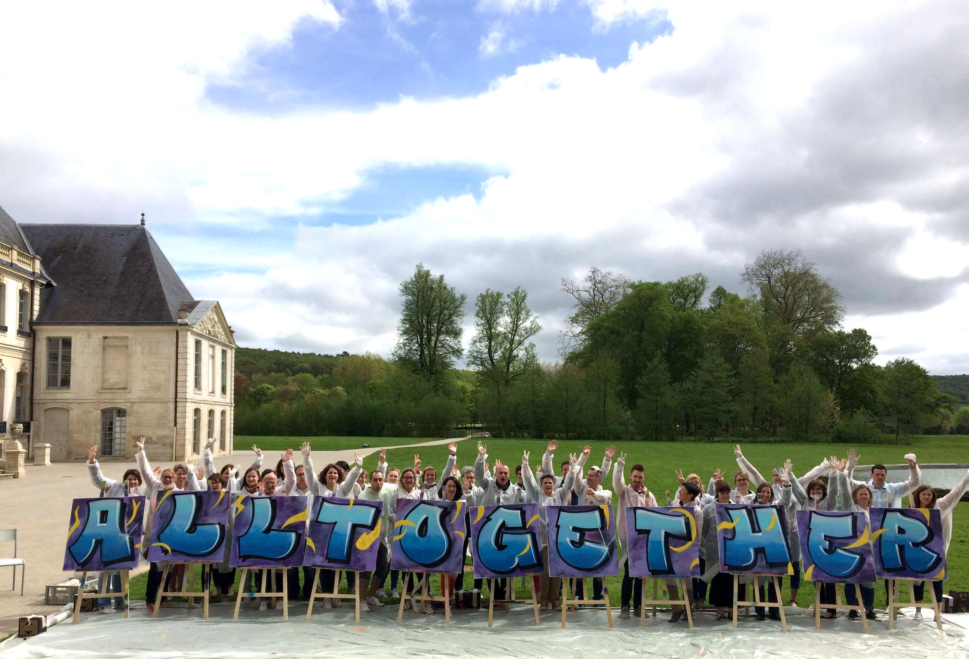 AnimationTeam building graffiti chez Chateauform Group