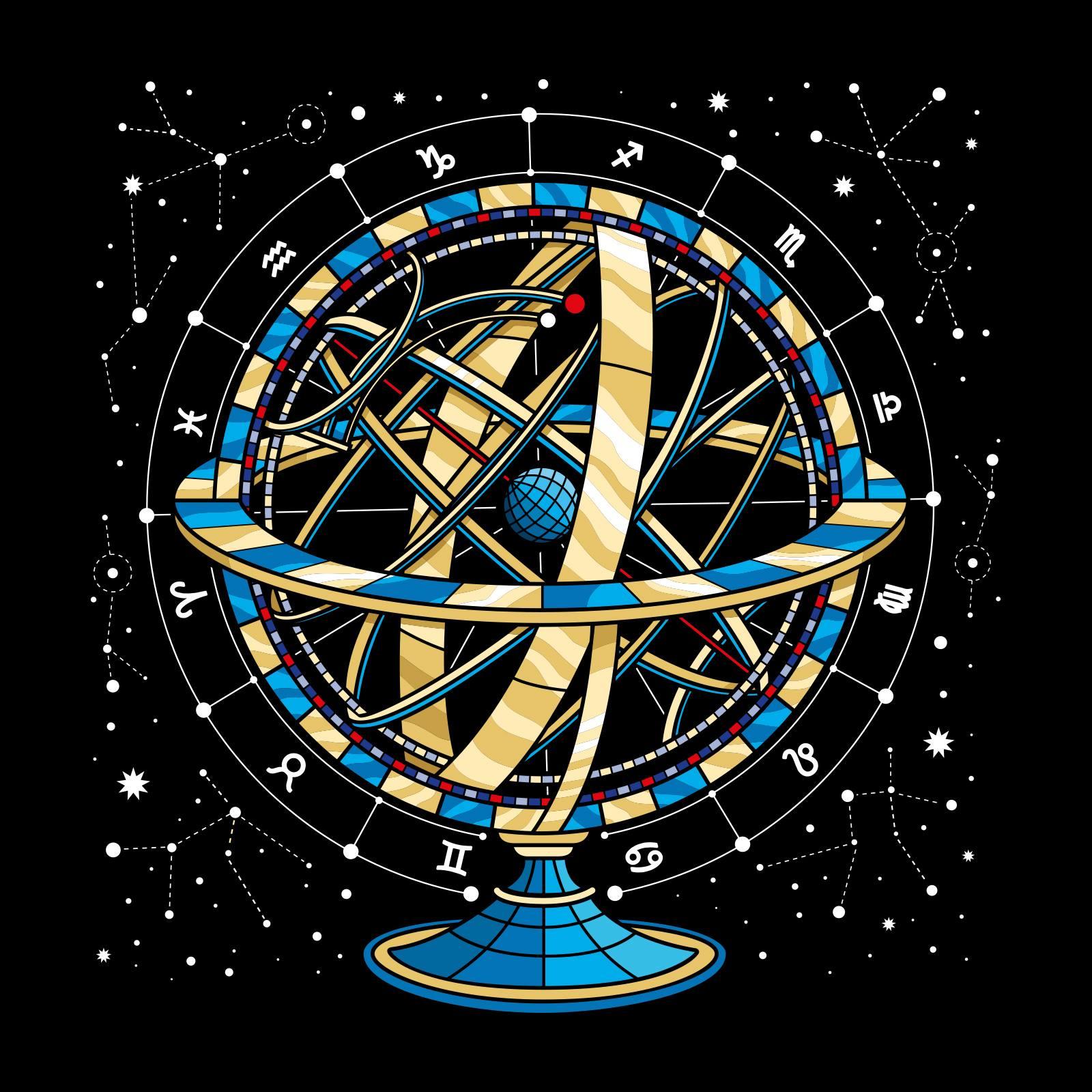 Serigraphie d'une sphère cosmique réalisé par Stéphane Opéra