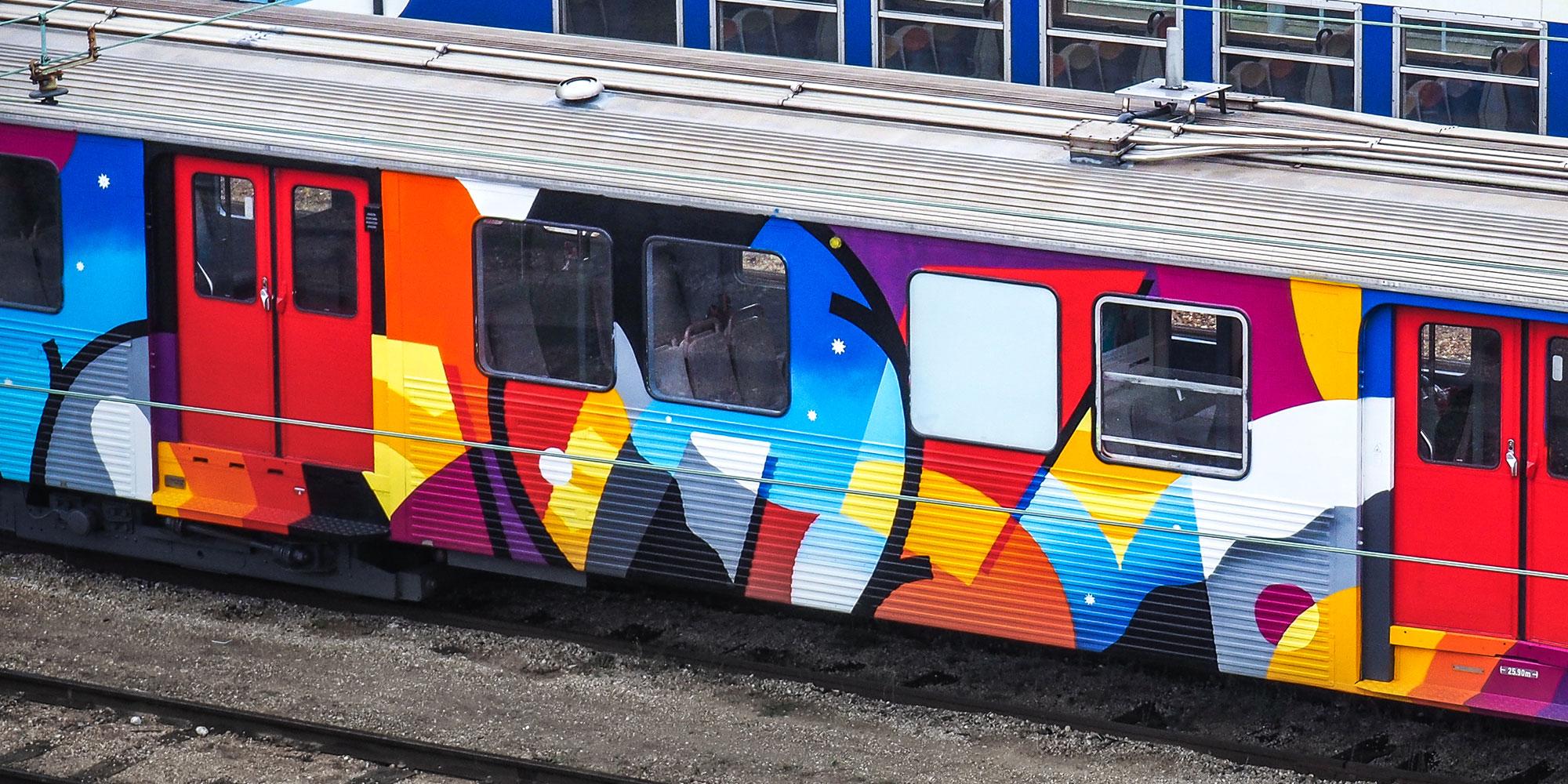 graffiti sur train sncf
