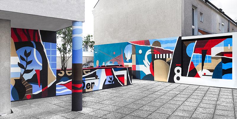 Fresque mural à Pierrefitte