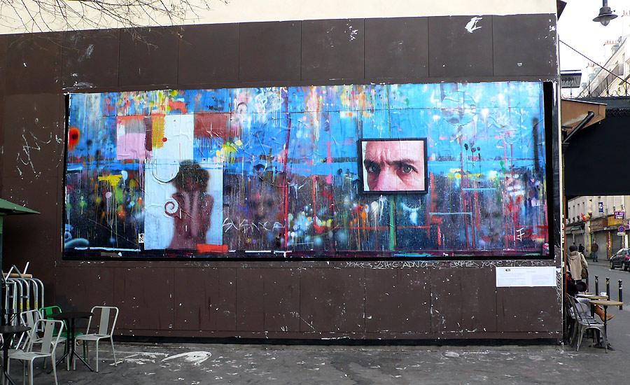 Collage d'affiche par l'artiste Jean Faucheur