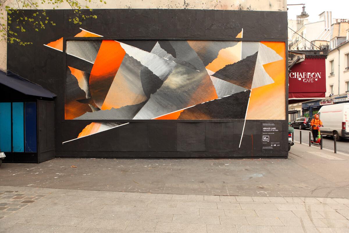 Design mural graphique dans la rue par Arnaud Liard