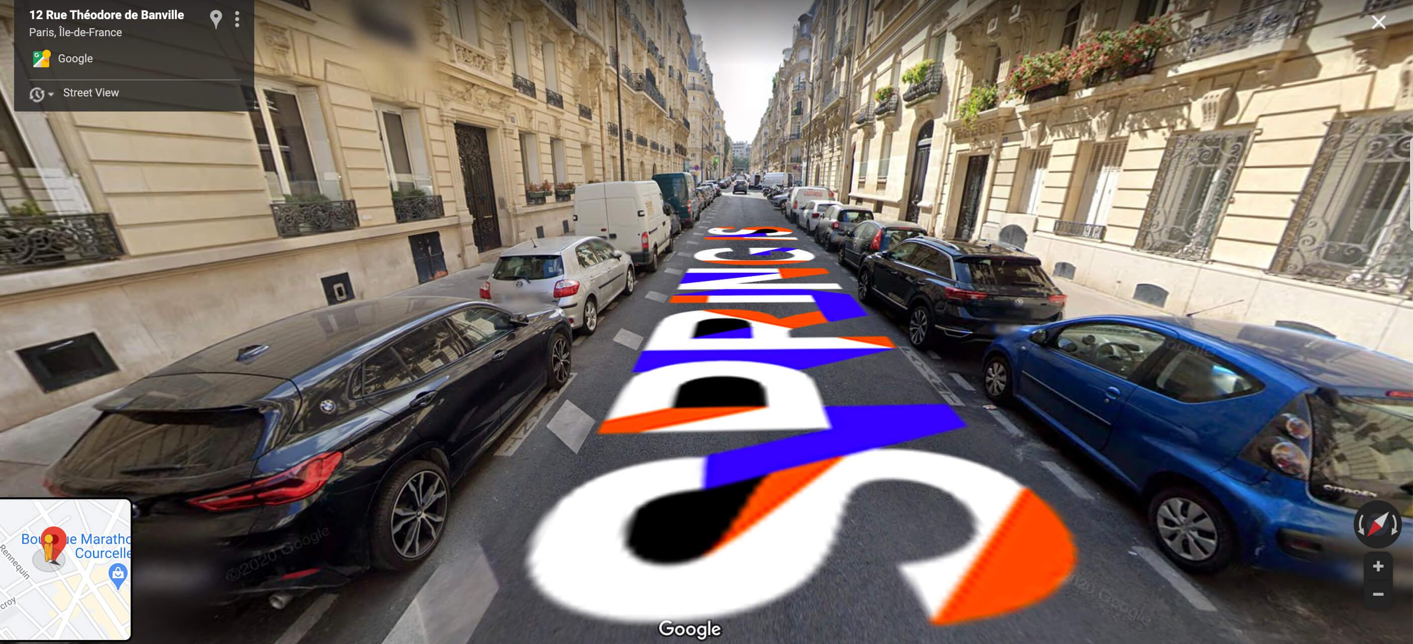 Street view google map