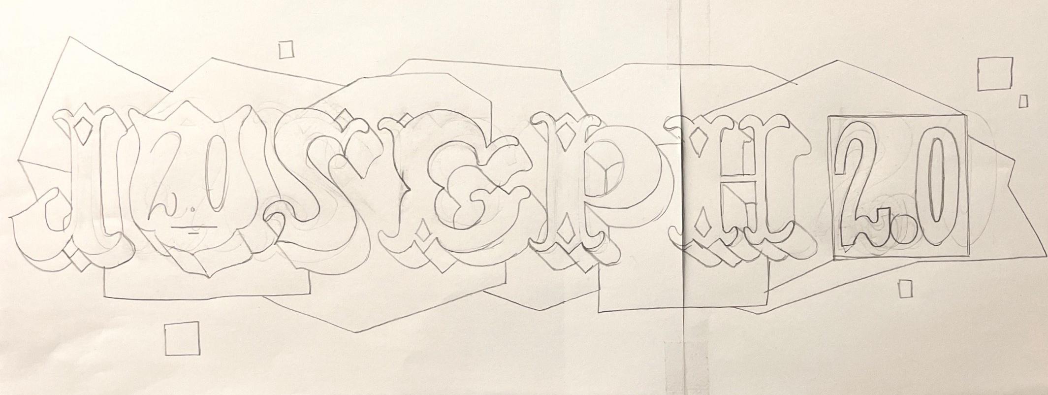 Croquis au crayon à papier