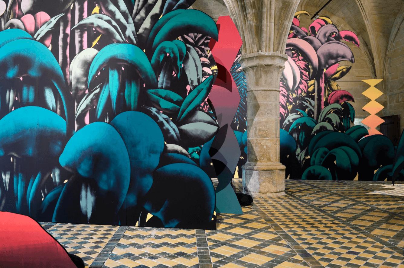 Fresque mural abbaye of Maubuisson