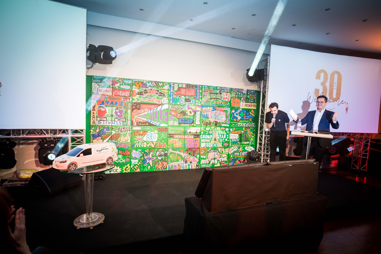 Fresque Art collaborative avec Stars Service à Paris