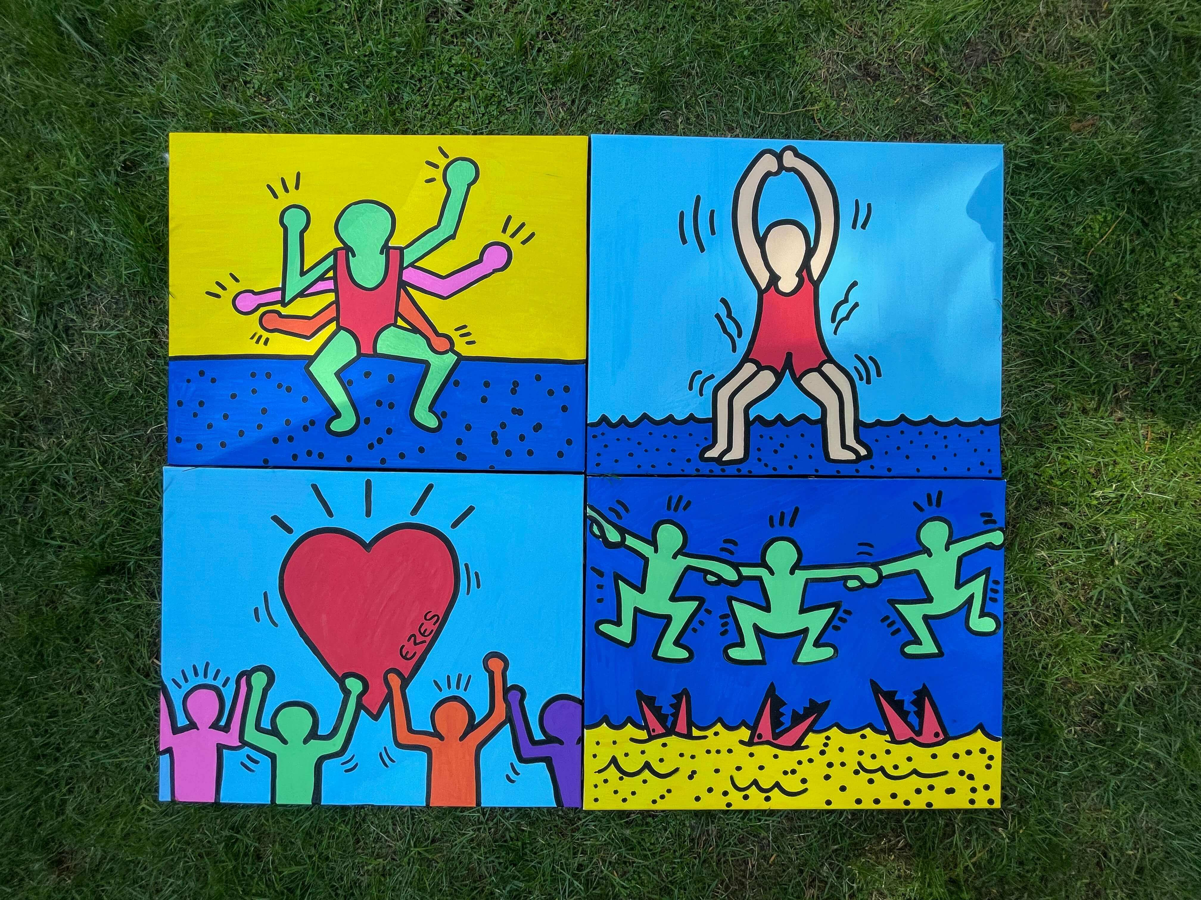 Quatre Toiles de Keith Haring par ERE Channel