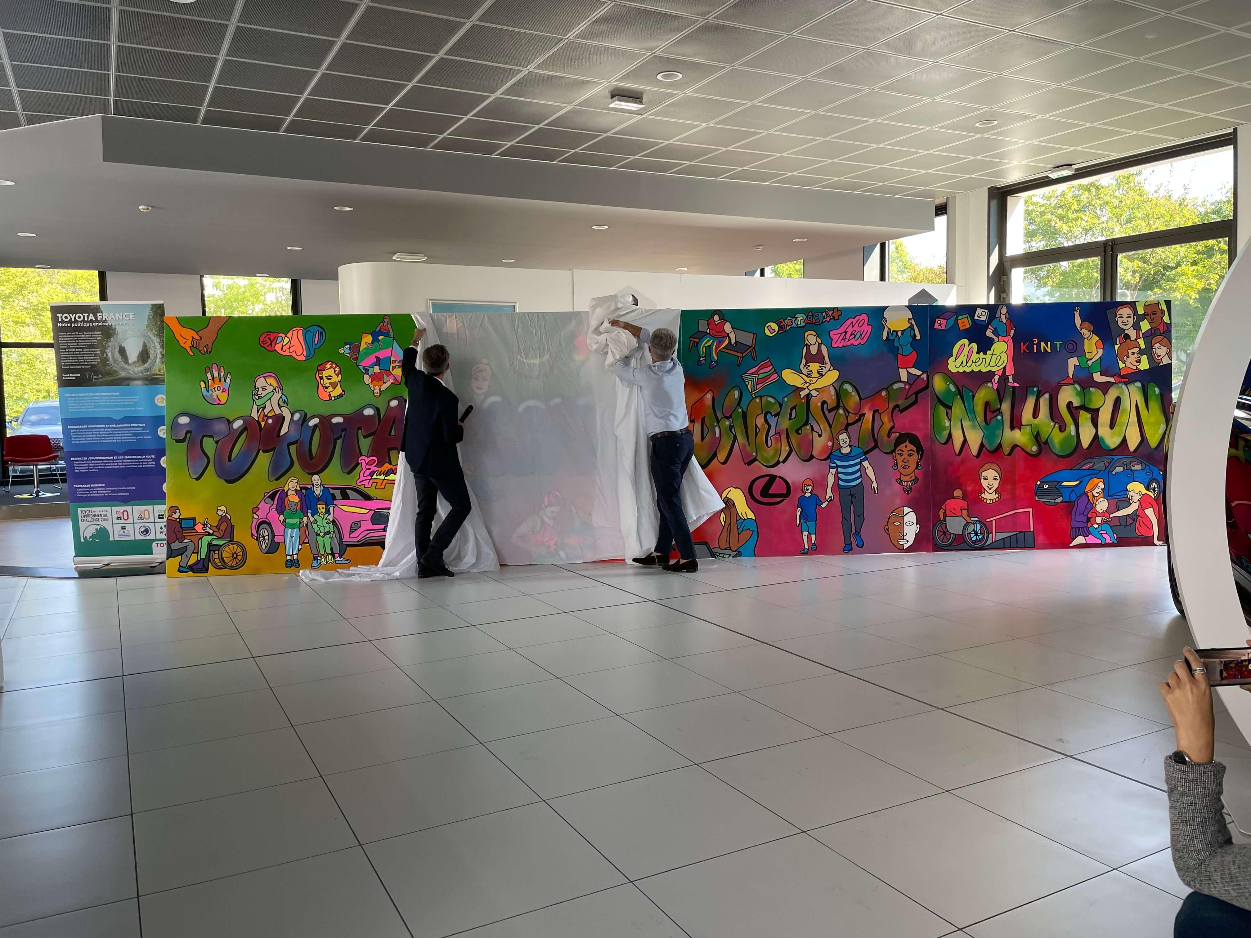 Reveal d'une fresque géante autour du street art et de l'inclusion