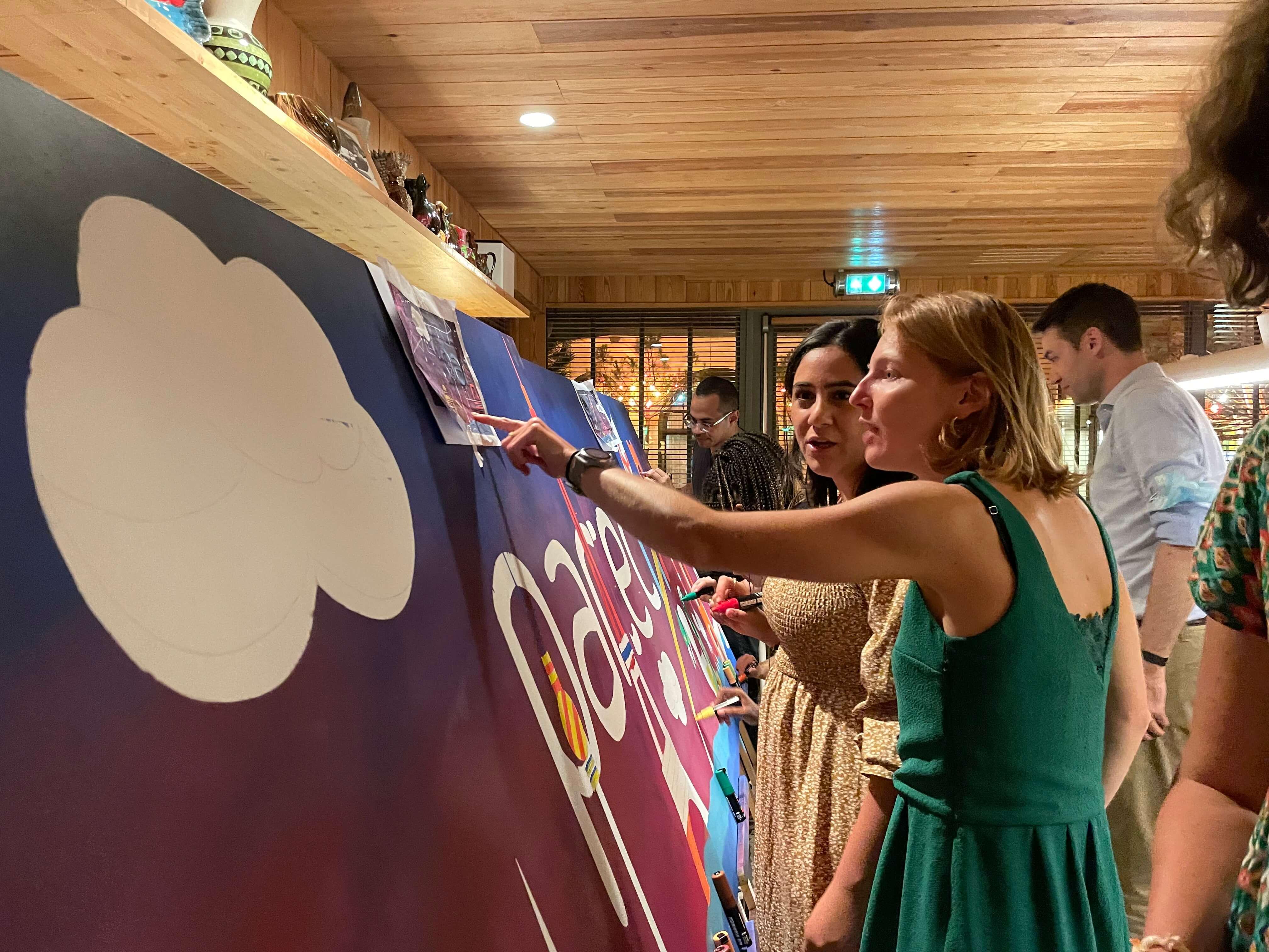 réalisation de toiles street art participative
