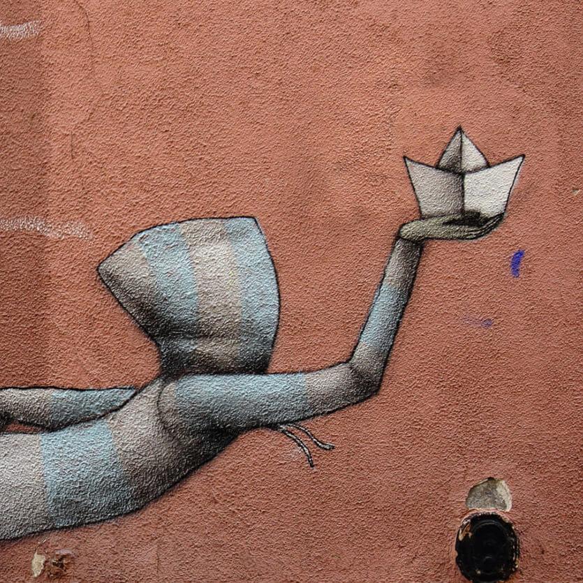 détail de l'Oeuvre street art graffiti de l'artist Julien Malland alias Seth