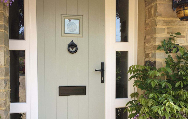 house with solidor door
