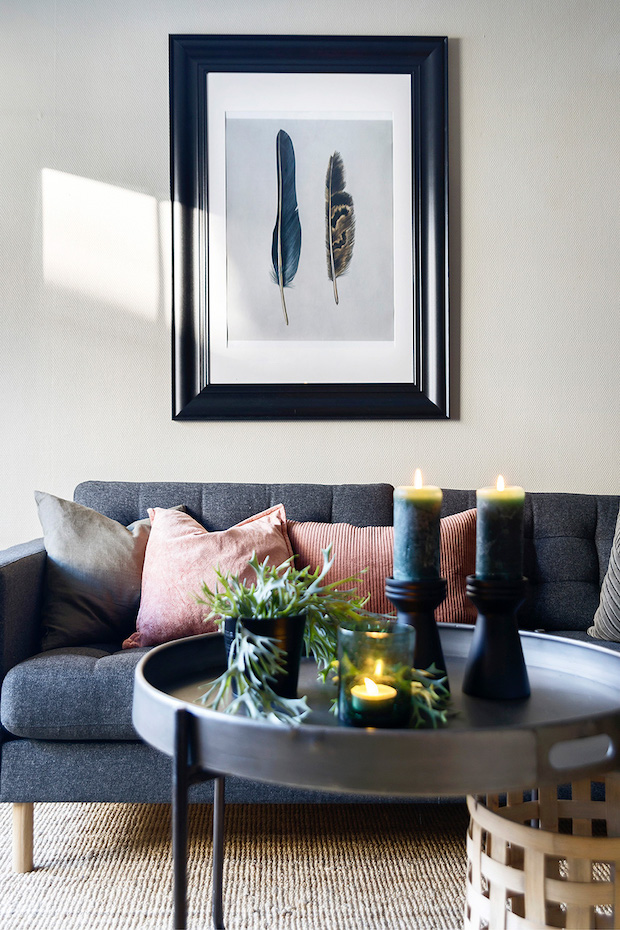 Detaljer av sofa
