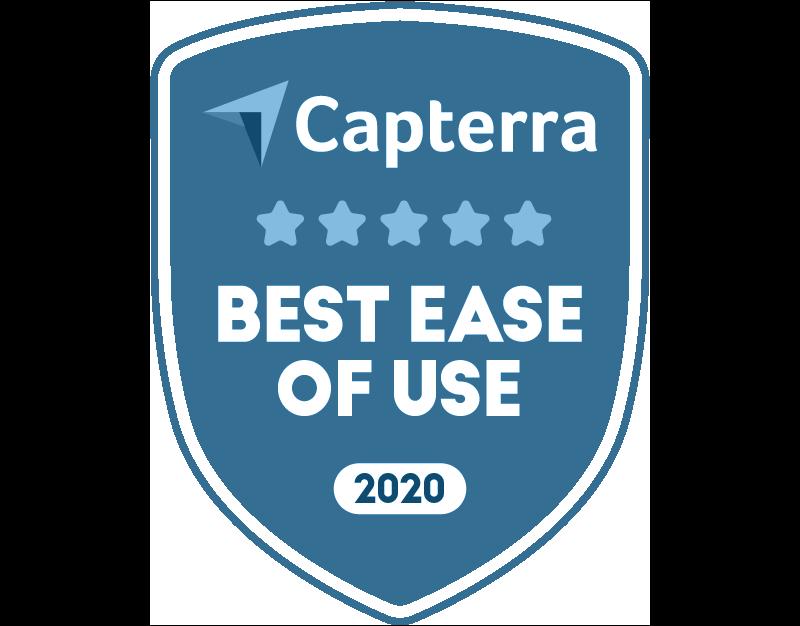 Capterra Award Badge: 5 stars, best ease-of-use legal billing software of 2020