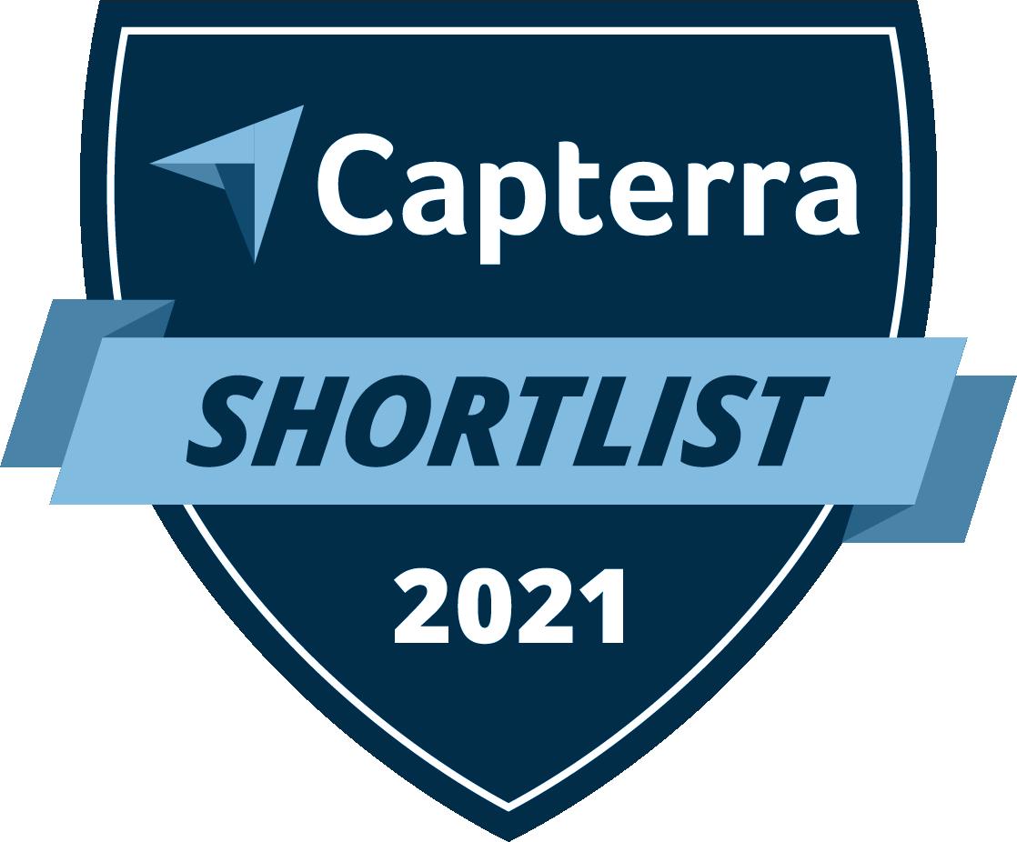 Capterra Award Badge: best legal software shortlist 2021
