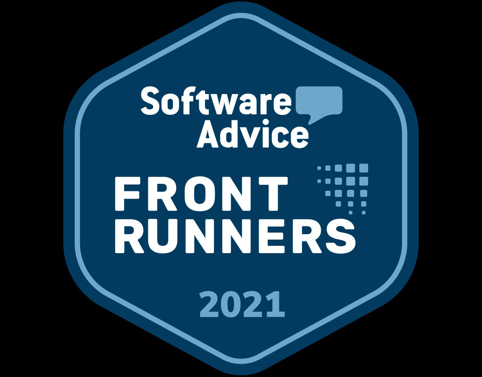 Software Advice Award Badge:  legal billing software Front Runner award 2021