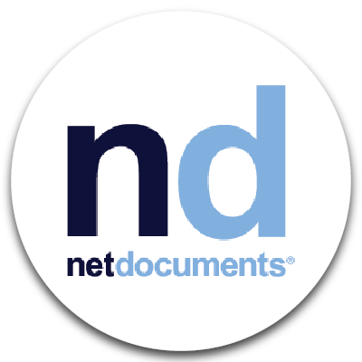 netdocuments logo. Click to go to netdocuments website.