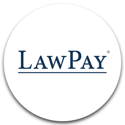 Law Pay logo. Click to go to Law Pay website.