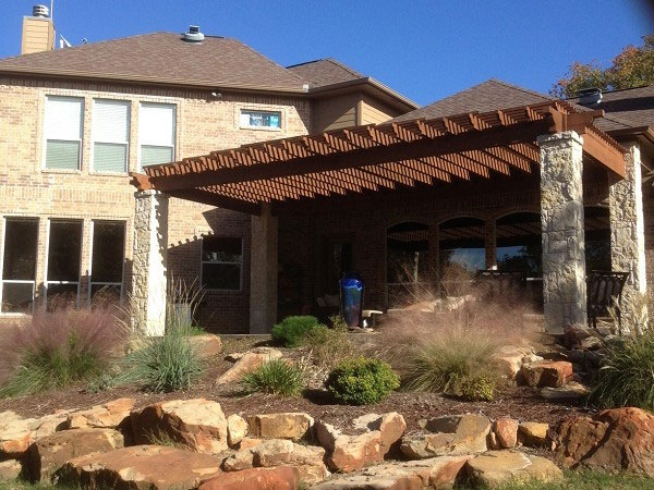 House in Weatherford Texas that had their windows professionally cleaned.