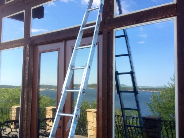 Beautifully cleaned windows with no streaks done by professionals at Window Cleaning Inc in Weatherford Texas.